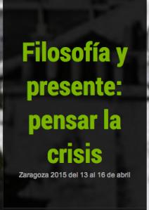 Filosofia y presente- pensar al crisis