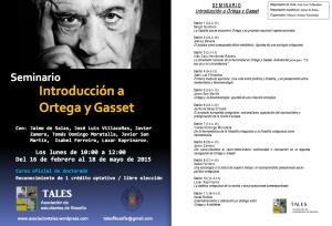 cartel Seminario de Ortega y Gasset 2